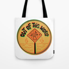 Out of this world in 3d Tote Bag