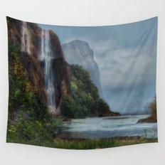 Tall Waterfall Wall Tapestry