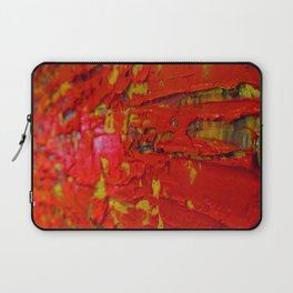 Up Close & Personal with Red Townscape II, #2 Laptop Sleeve