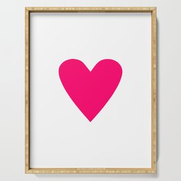 Neon Pink Heart Serving Tray
