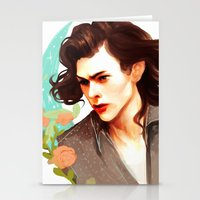 harry styles Stationery Cards featuring Harry Styles by chazstity