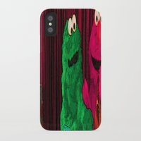 elmo iPhone & iPod Cases featuring Will the real Elmo please stand up? by Ashley marshall Estabrook