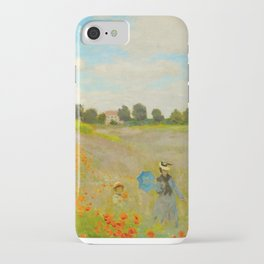Claude Monet Impressionist Landscape Oil Painting Poppy Field iPhone Case