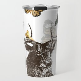 The Stag and Butterflies Travel Mug