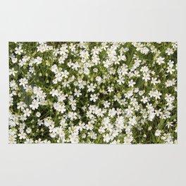 Stitchwort Stellaria Wild Flowers Rug