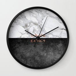Inhale Exhale Copper Wall Clock
