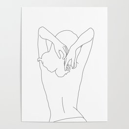 Woman's body line drawing - Cece Poster