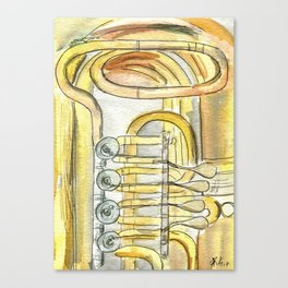 Tuba Tubs Canvas Print