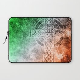 Irish Celtic Cross Laptop Sleeve