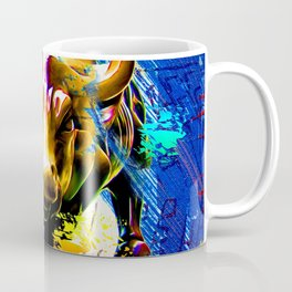 Wall Street Bull Painted Coffee Mug