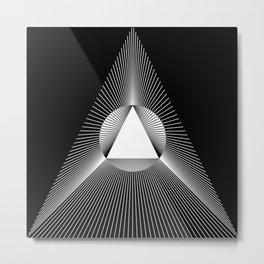 Abstraction 017 - Minimal Geometric Triangle Metal Print