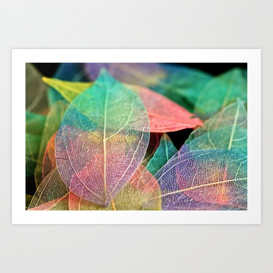 Skeleton Leaves Art Print