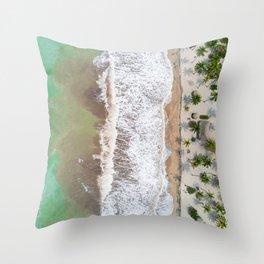 Caribbean beach Throw Pillow