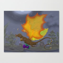 Autumn Otter Dragon Canvas Print