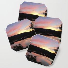 Summer Solstice Sunset Across The Big Eddy Coaster