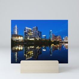 Blue Austin Mini Art Print