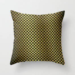 Black and Gold Checkerboard Weimaraner Throw Pillow