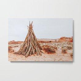 Desert Tipi Metal Print