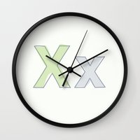 the xx Wall Clocks featuring xx by DJgomashio
