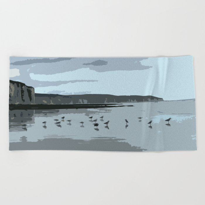 seagulls Beach Towel