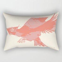 Tilted Bird Rectangular Pillow