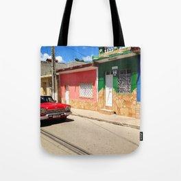 Cars in Cuba Tote Bag