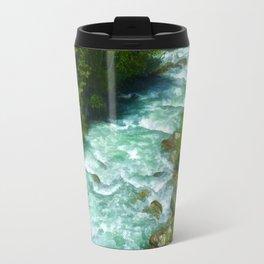 Here Be Bears - Black Bear and Wilderness River Travel Mug