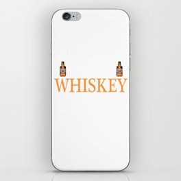 Whiskey Bourbon Helps Alcohol T-Shirt Gift Fathersday new Cat Catlover Kitty iPhone Skin