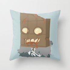 Zombie Crunch Bar Throw Pillow