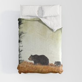 Roaming Bears In West Virginia Comforters