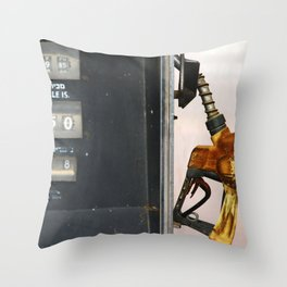 Gas Station Throw Pillow