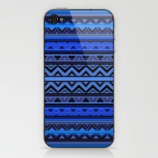 Mix #218 - Blue Aztec iPhone & iPod Skin