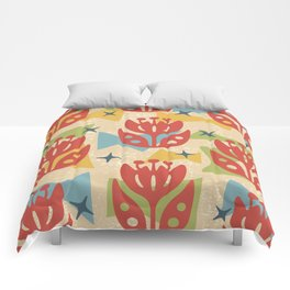 Mid Century Modern Butterfly Garden 201 Comforters