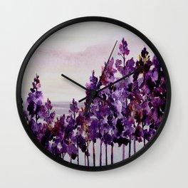 Purple Trees Wall Clock