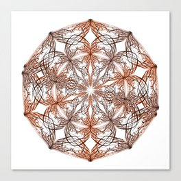 Mandala metal and orange Canvas Print