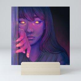 Pensive Glowing Girl Mini Art Print