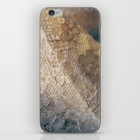 lace iPhone & iPod Skins featuring lace by messy bed studio