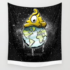 shit rules the world Wall Tapestry