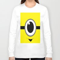 minion Long Sleeve T-shirts featuring Evil Minion by shannon's art space