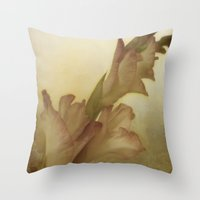 vintage floral Throw Pillows featuring Vintage Floral by Dorothy Pinder