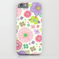 happy flowers iPhone 6s Slim Case