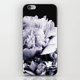 Peony Flower Bouquet Black and White #decor #society6 #buyart iPhone Skin