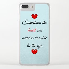 Saint Valentine's Day Clear iPhone Case