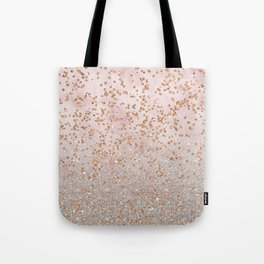 Mixed glitters on pink marble Tote Bag