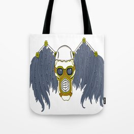 Apocalyptic Steampunk Dark Angel Skull Tote Bag