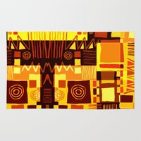 african Area & Throw Rugs featuring African feel by clemm