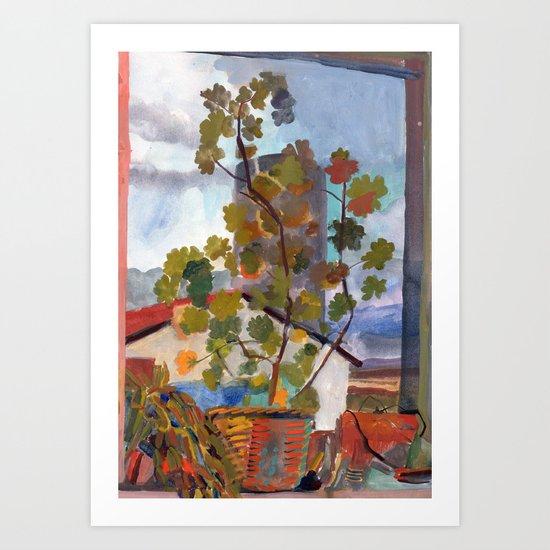 Window, Selfoss, Iceland Art Print