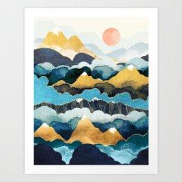 Cloud Peaks Art Print