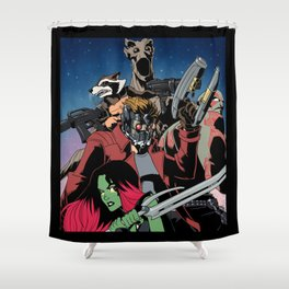 Guarding the Galaxy Shower Curtain