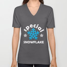 Special Snowflake Gift for Self-Righteous Person  Unisex V-Neck